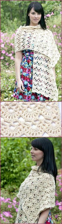 crochet lacey arches stole