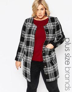 Carmakoma Plus Size Tibet Coat Jacket In Mono Check size XL - UK 26 rrp £149