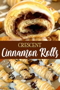 Cinnamon and sugar added to crescent rolls and then drizzled with a simple powdered sugar icing is a super easy hack to enjoy cinnamon rolls with your family. Even when premade cinnamon rolls aren't available they can be easily made by adding a few ingredients to crescent dough.