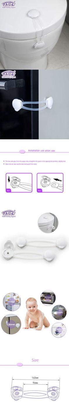 3pc baby safety child lock children security protection for cabinet Toilet child safety lock refrigerator window closet wardrobe