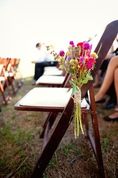 Virginia Vineyard Wedding Wildflower Ceremony Aisle Decorations 275x412 Ashley + Carlins Outdoor Virginia Vineyard Wedding
