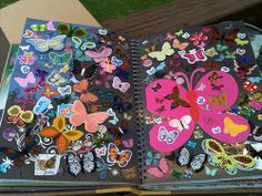 Butterflies Smash Book Pages