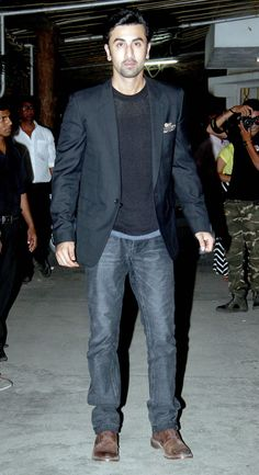 Ranbir Kapoor at a screening of Bombay Velvet. #Bollywood #Fashion #Style #Handsome