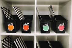 Schoolgirl Style - Black, White and Stylish Brights Apple Name Tags - UPRINT {DIGITAL FILES SENT TO YOUR EMAIL}