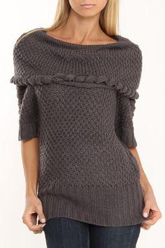 Nala Sweater In Charcoal.