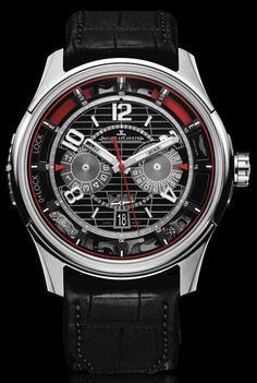 Jaeger-LeCoultre and Aston Martin Present Chronograph Watch Watches Channel Dream Watches, Fine Watches, Sport Watches, Luxury Watches, Cool Watches, Watches For Men, Men's Watches, Wrist Watches, Unique Watches