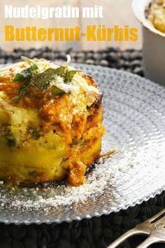 Nudelgratin mit Butternut-Kürbis schmeckt frisch aus dem Ofen einfach himmlisch!   Zubereitungszeit: 45 Minuten   http://eatsmarter.de/rezepte/nudelgratin-mit-butternut-kuerbis