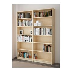 BILLY Bookcase, birch veneer birch veneer 63x79 1/2x11