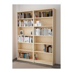 BILLY Bokhylle - bjørkefiner - IKEA 790:- per stykk 80 x h 202 x d 28 Fin naturfarge, lav pris og mange muligheter med dører osv