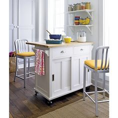 """$499 Belmont White Kitchen Island in Dining, Kitchen Storage 