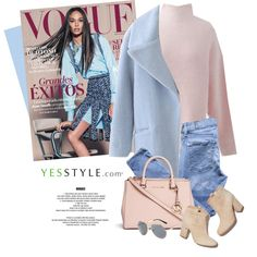 YESSTYLE.com by monmondefou on Polyvore featuring YOOM, Cherrykoko, 7 For All Mankind, Michael Kors, KOON, Laurence Dacade, women's clothing, women's fashion, women and female