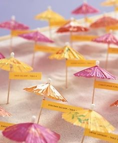 Parasol Seating Cards | Community Post: 20 Creative Wedding Seating Cards