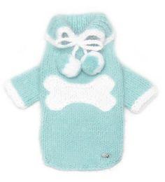 Hand Knit Angora Dog Sweater