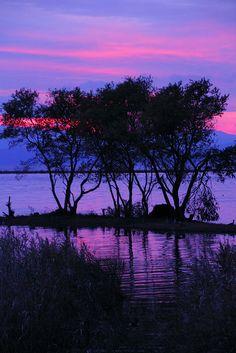 Sunset Lake Biwa, Shiga, Japan