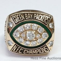 Guarantee Genuine Gold Diamond GBP Back 2 Back NFC Championship Ring Player Worn