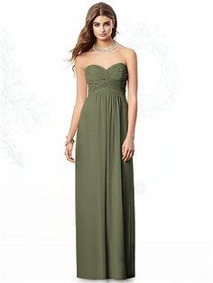 Olive Green Bridesmaids Dress