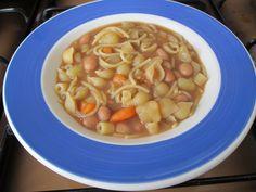 Soupe   de   haricots    et   pasta   variès    Gino   D'Aquino.