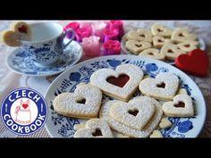 Linzer Hearts Recipe - Linecká Srdíčka - Czech Cookbook Linzer Cookies, Czech Recipes, Jam On, English Food, Food Videos, The Creator, Czech Food, Deserts, Dessert Recipes