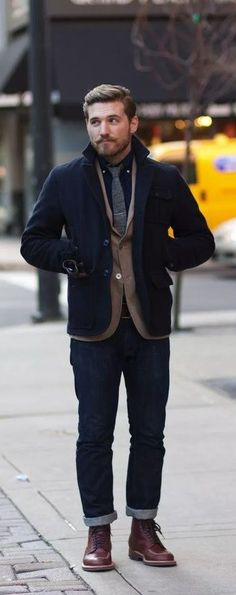 men's oval body type outfit