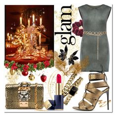 """""""Christmas Party"""" by beograd-love ❤ liked on Polyvore featuring Naeem Khan, Wild Pair, H&M, BCBGMAXAZRIA, Tom Ford, Mrs. President & Co., GEDEBE, Topshop, Masquerade and Chanel"""