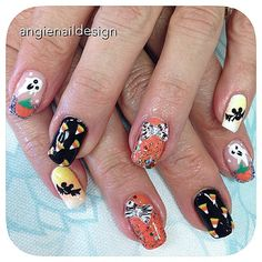Pin for Later: 102 Halloween Nail Art Ideas That Are Better Than Your Costume Creepy Cartoons
