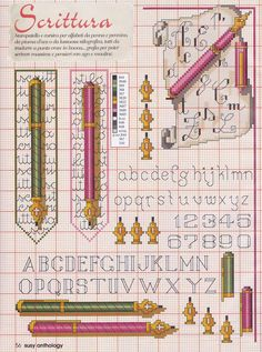 Cross Stitch Letters, Cross Stitch Boards, Cross Stitch Bookmarks, Blackwork Cross Stitch, Cross Stitching, Cross Stitch Embroidery, Calligraphy Pens, Letter A Crafts, Le Point