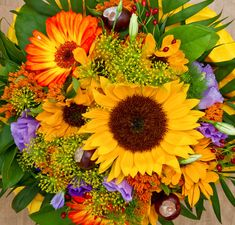 Vibrant Florals – Variation of flowers in a lovely bouquet.