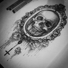 skull, The artist of this is : http://www.etsy.com/shop/rikikaymiddleton . Check her out folks.