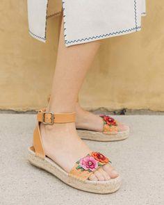 Soludos x Anthropologie Bahia Leather Sandal