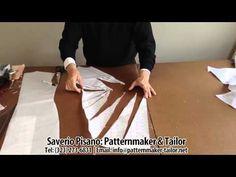Pattern making for Blue Decolette Dress by Patternmaker Pisano Knit Vest Pattern, Bodice Pattern, Pattern Cutting, Pattern Making, Dress Patterns, Sewing Patterns, Sewing Stitches, Shingo Sato, Sewing Blouses