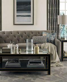 Chloe Fabric Velvet Metro Living Room Furniture Sets & Pieces - Living Room Furniture - furniture - Macy's