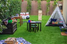 Encourage the whole gang — parents, kids and pets — to spend more time outside with these family-friendly backyard tips.