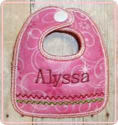Snap on name tag for the diaper bag