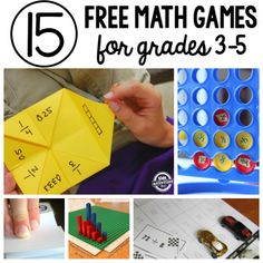 FREE Math games for grade 3 and up .If you're looking for a fun way to approach those basic math skills that your child needs to learn, You'll find what you're looking for in this set of math games for grade 3 and up Math Strategies, Math Resources, Math Activities, Printable Math Games, Free Math Games, Fun Games, Free Printable, Math For Kids, Fun Math