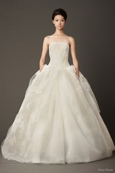 vera wang wedding dresses fall 2013 lace ball gown open back corset