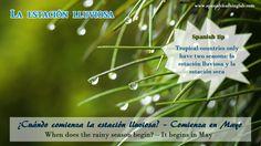 "The rainy season or as we call in Spanish, ""La estación lluviosa"" or ""La temporada de lluvia"" is the second season for tropical countries."