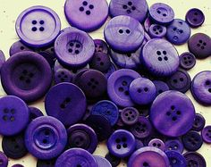 100  Dark Purple Buttons - Dioxazine Purple - Royal Purple Assorted sizes -  Grab Bag - Crafting -  Jewelry -  Collect (818)