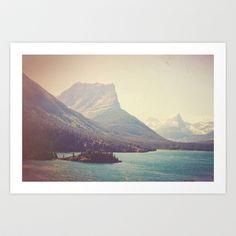Retro+Glacier+Art+Print+by+Kurt+Rahn+-+$20.00