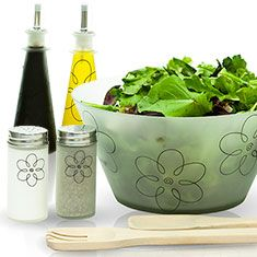 7pc Salad Set in Frosted Glass - Plain or Floral Design $17.99 (Ends Today) - http://frugalorfree.com/deals/7pc-salad-set-in-frosted-glass-plain-or-floral-design-17-99-ends-today/