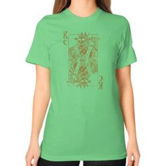 Suicide King (Gold) Unisex T-Shirt (on woman)