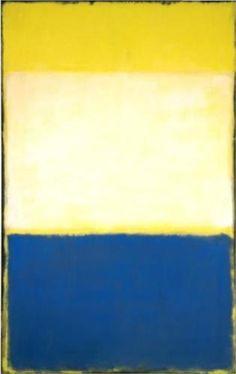Rothko, No. 6 (Yellow, White, Blue Over Yellow on Gray), 1954   Pics online just don't so it justice