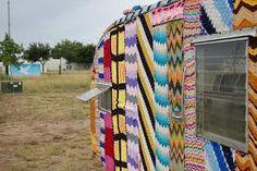 knitted caravan