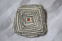 Handmade porcelaine brooch by NikiClayWork on Etsy, €20.00