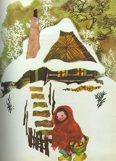 most amazing illustrator - Jiri Trnka I Love Winter, Fairytale Art, Linocut Prints, Illustrations And Posters, Red Riding Hood, Conte, Little Red, Art Images, Cute Art