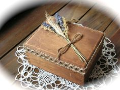 Rustic Wedding Ring Boxes  Ring Bearer Pillow by Mydaisy2000