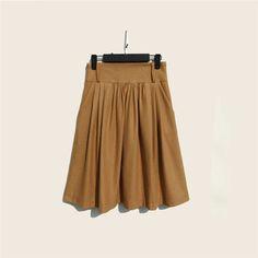 2016 Autumn Winter Wool Skirt For Women Plus Size Solid Retro High Waist Long Pleated Skirts Womens Saias Femininas W/Sashes