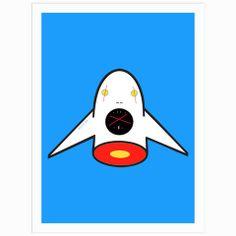 Rocket Boy Screen Print (Limited Edition, Signed by Bartholomew Cubbins)