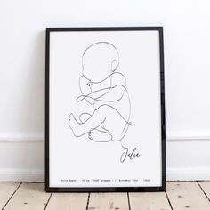 Affiche bébé personnalisée - Les Petits Raffineurs Baby Drawing, Line Drawing, Painting & Drawing, Pregnancy Drawing, Pregnancy Art, Art Abstrait Ligne, Art Blanc, Baby Posters, Line Artwork