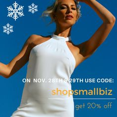 Support Small Business Saturday #ShopSmall get 20% discount at www.annaborgia.com/shop #bridal #weddings #bridesmaids #vegan #fashion #cruelty-free #Eco #FairTrade