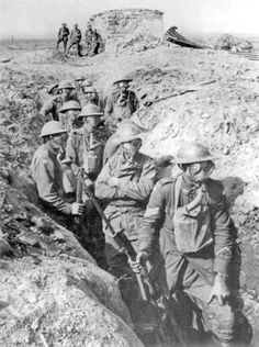 Written in the trenches. During WW1, many battles were fought in the trenches. This was called trench warfare.